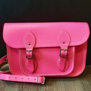 Cambridge Satchel Company Leather Neon Pink Purse